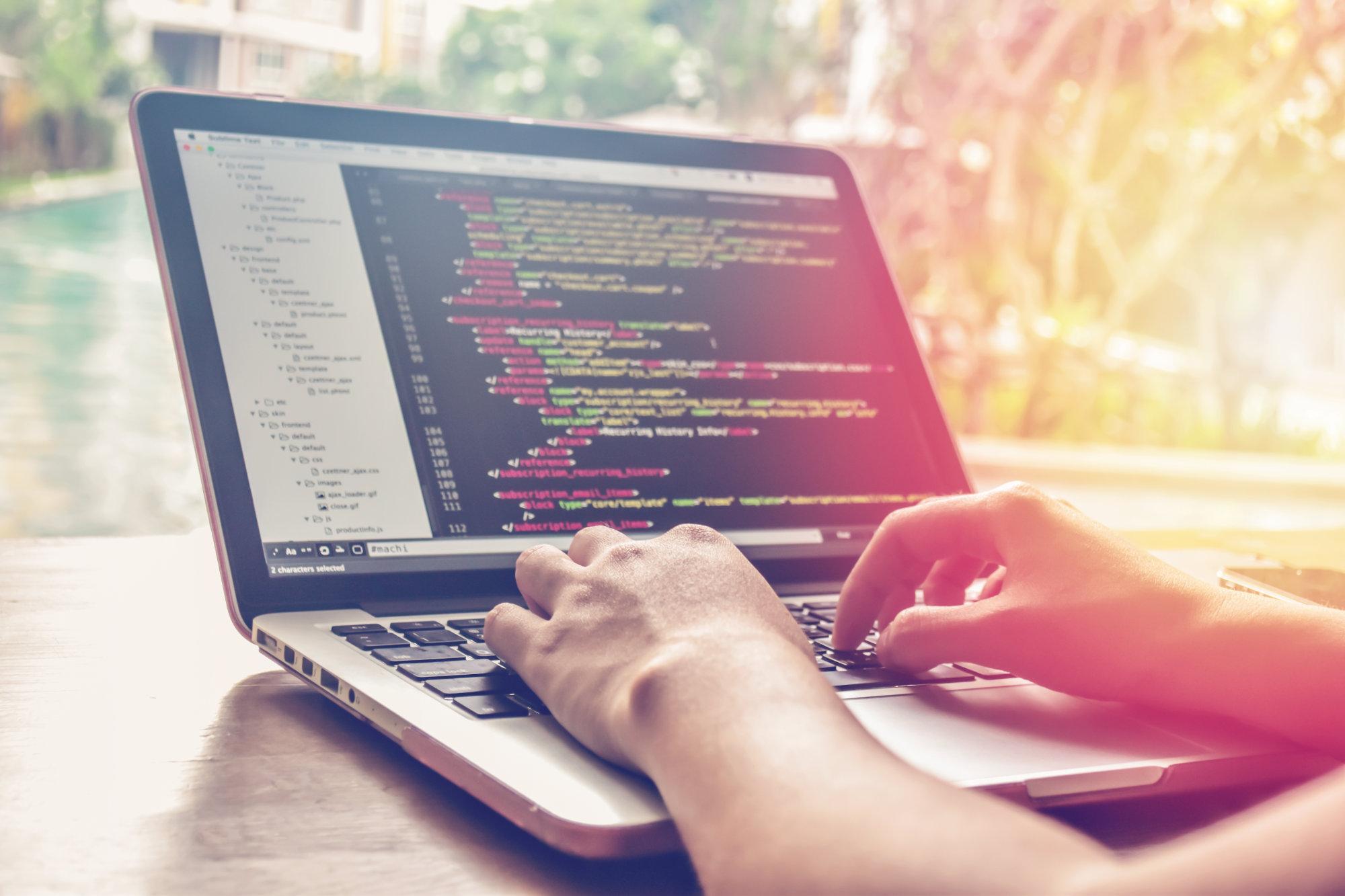 Programmer on laptop